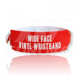 "5/4"" Wide Face VINYL Wristbands (30mm)"