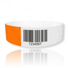 TYVEK Einlässbänder mit Barcode 25mm