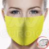 Mundschutz einfarbig gelb